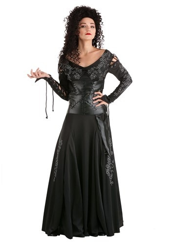 Click Here to buy Womens Harry Potter Bellatrix Lestrange Plus Size Costume from HalloweenCostumes, CDN Funds & Shipping