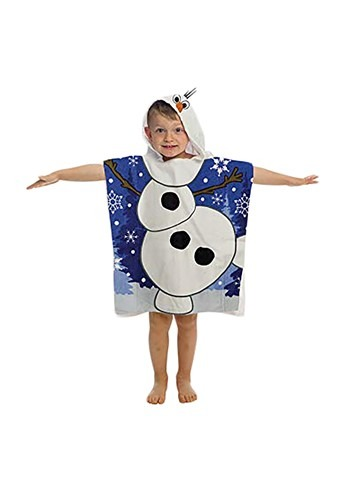 Click Here to buy Kids Frozen Olaf Hooded Costume Poncho from HalloweenCostumes, CDN Funds & Shipping