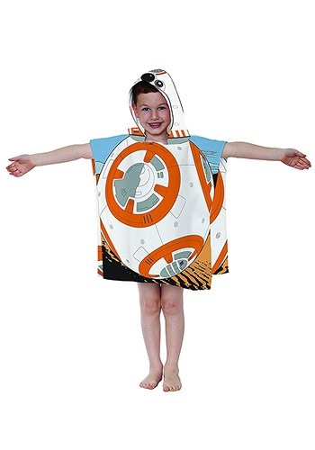 Click Here to buy Star Wars Hooded BB-8 Costume Poncho from HalloweenCostumes, CDN Funds & Shipping