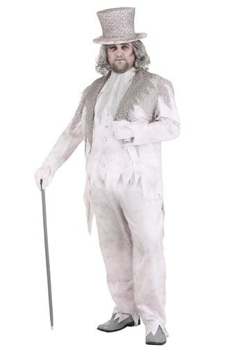 Men's Plus Size Victorian Ghost Costume