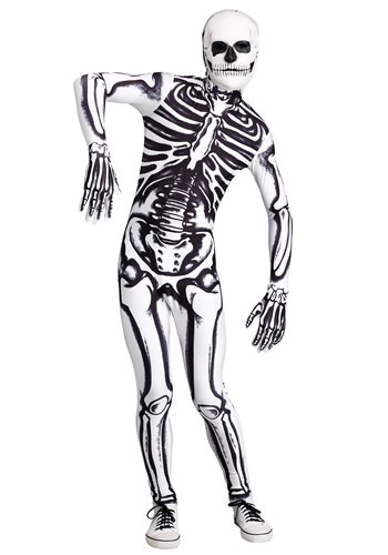 Click Here to buy White Skeleton Mens Costume from HalloweenCostumes, CDN Funds & Shipping