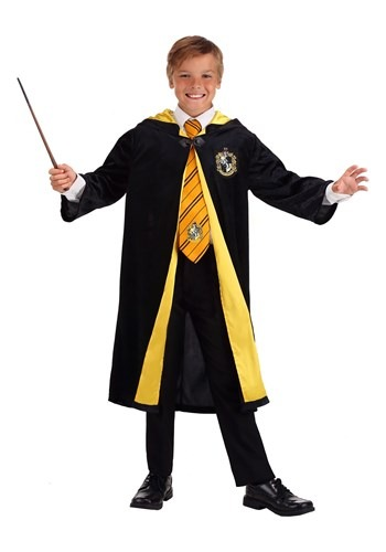 Click Here to buy Kids Harry Potter Deluxe Hufflepuff Robe from HalloweenCostumes, CDN Funds & Shipping