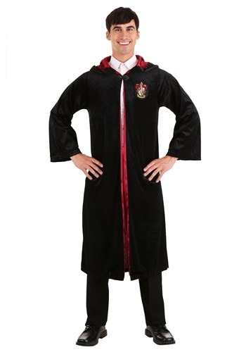 Click Here to buy Harry Potter Deluxe Adult Gryffindor Robe from HalloweenCostumes, CDN Funds & Shipping