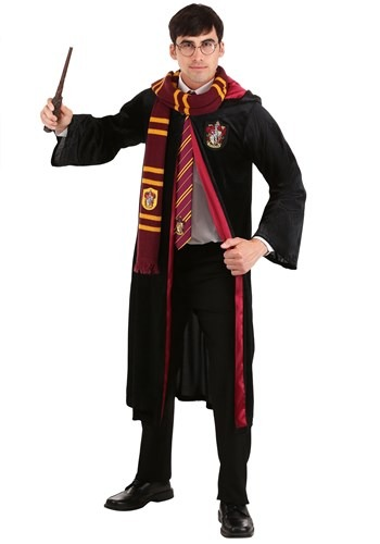 Click Here to buy Deluxe Harry Potter Gryffindor Robe for Plus Size Adult from HalloweenCostumes, CDN Funds & Shipping