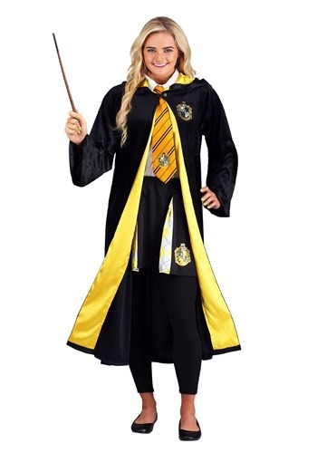 Click Here to buy Deluxe Harry Potter Plus Size Hufflepuff Robe for Adults from HalloweenCostumes, CDN Funds & Shipping