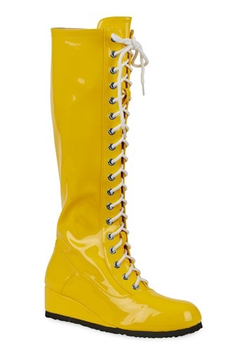 Click Here to buy Yellow Wrestling Boots for Men from HalloweenCostumes, CDN Funds & Shipping