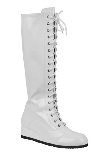 Click Here to buy White Wrestling Boots for Men from HalloweenCostumes, CDN Funds & Shipping