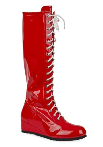 Click Here to buy Red Wrestling Boots for Men from HalloweenCostumes, CDN Funds & Shipping