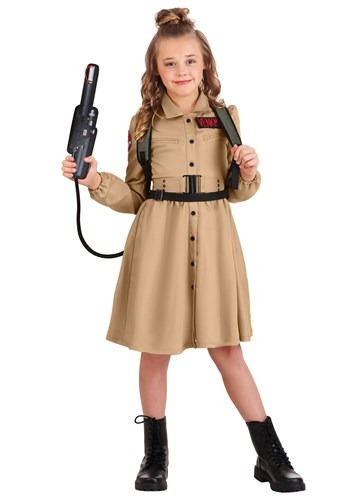 Click Here to buy Ghostbusters Costume Dress for Girls from HalloweenCostumes, CDN Funds & Shipping