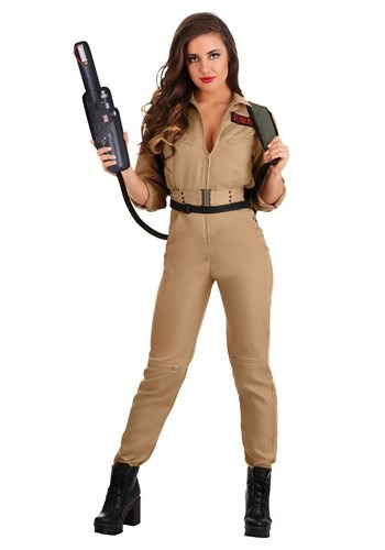 Click Here to buy Ghostbusters Plus Size Costume Jumpsuit for Women from HalloweenCostumes, CDN Funds & Shipping