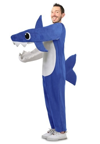 Click Here to buy Daddy Shark Deluxe Adult Costume For Men from HalloweenCostumes, CDN Funds & Shipping