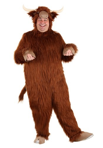 Plus Size Highland Cow Costume for Adults
