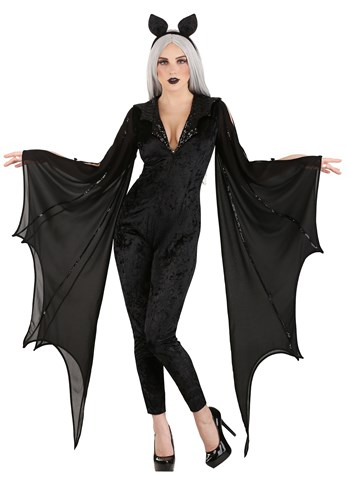 Click Here to buy Midnight Bat Womens Costume from HalloweenCostumes, CDN Funds & Shipping