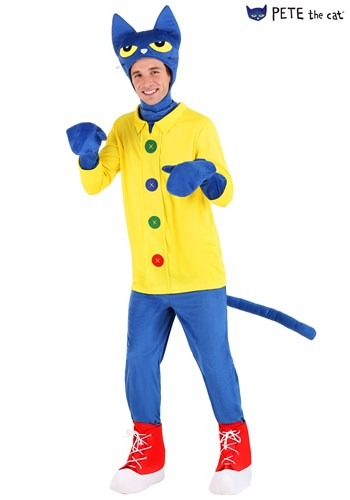 Click Here to buy Pete the Cat Adult Costume from HalloweenCostumes, CDN Funds & Shipping
