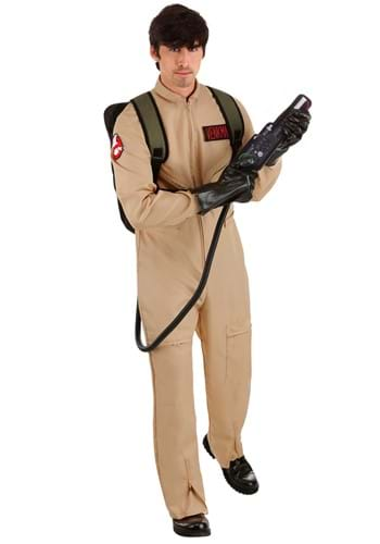 Click Here to buy Ghostbusters Mens Plus Size Deluxe Costume | Ghost Hunter Costume from HalloweenCostumes, CDN Funds & Shipping