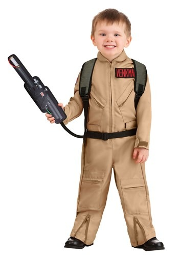 Click Here to buy Toddler Ghostbusters Deluxe Costume from HalloweenCostumes, CDN Funds & Shipping