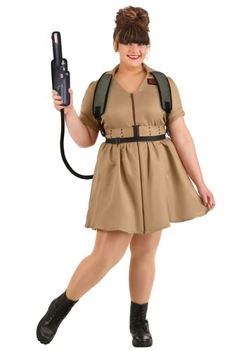 Womens Plus Size Costume Dress Ghostbusters