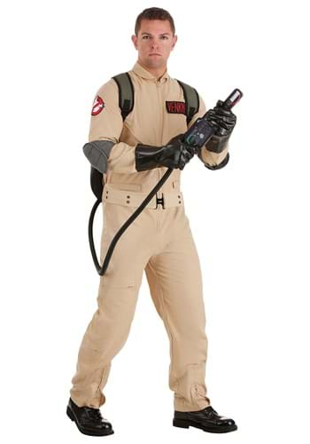 Click Here to buy Ghostbusters Plus Size Cosplay Mens Costume from HalloweenCostumes, CDN Funds & Shipping