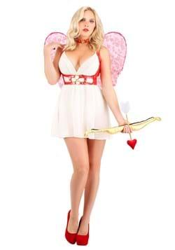 Crimson Cupid Costume for Women