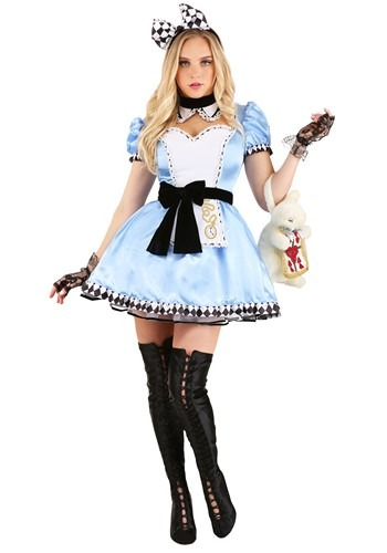 Women's Alluring Alice Costume Main
