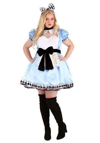 Click Here to buy Plus Size Womens Alluring Alice Costume from HalloweenCostumes, CDN Funds & Shipping