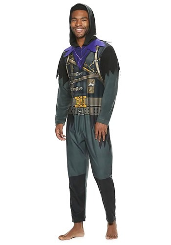 Mens Fortnite Raven Union Suit