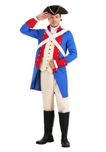 American Revolution Soldier Costume for Men