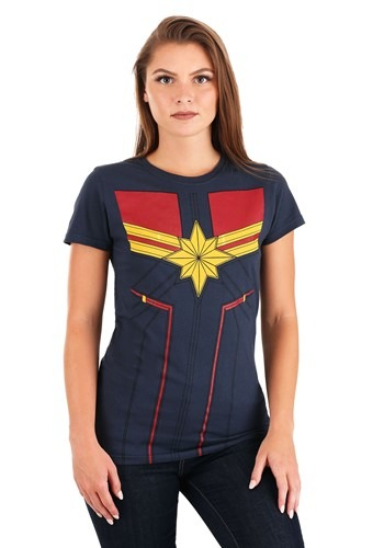 I Am Captain Marvel Navy Costume Tee for Women
