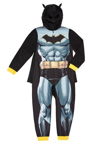 Click Here to buy Batman Kids Hooded Union Suit from HalloweenCostumes, CDN Funds & Shipping