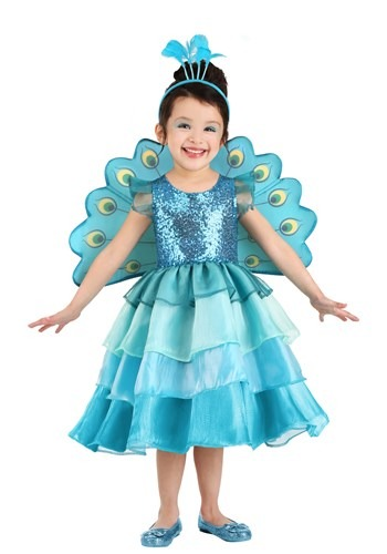 Pretty Peacock Toddlers Costume