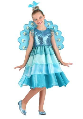 Pretty Peacock Costume for Kids