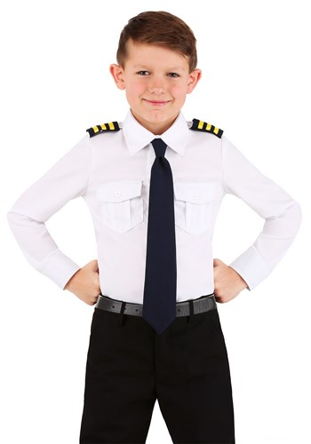 Pilot Shirt Kids Costume