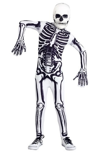 Click Here to buy White Skeleton Kids Costume from HalloweenCostumes, CDN Funds & Shipping