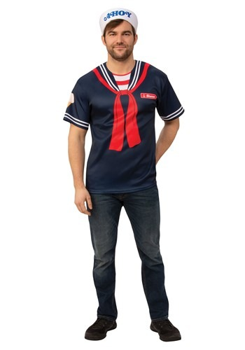 Click Here to buy Stranger Things Steve Scoops Ahoy Mens Costume from HalloweenCostumes, CDN Funds & Shipping
