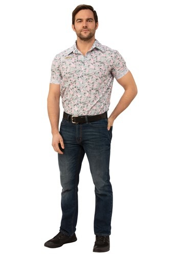 Mens Stranger Things Jim Hopper Hawaiian Shirt Costume