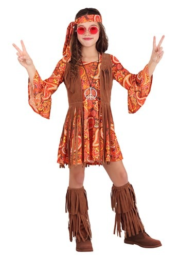 Girl's Fringe Hippie Costume