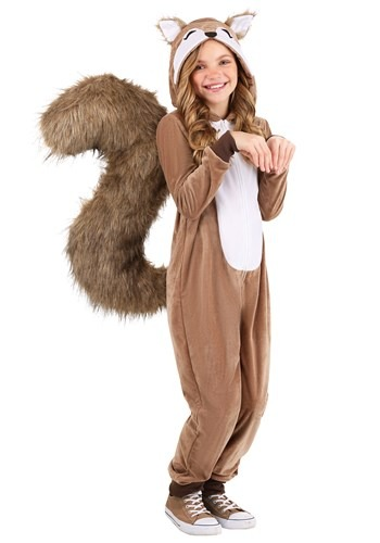 Kids Scampering Squirrel Costume1