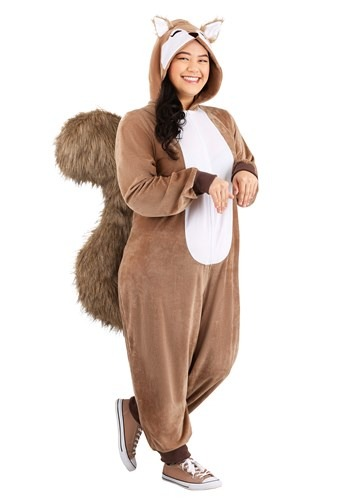 Womens Scampering Squirrel Plus Size Costume