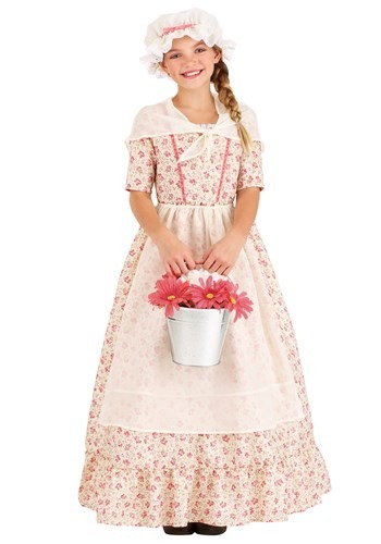 Kid's Colonial Girl Costume
