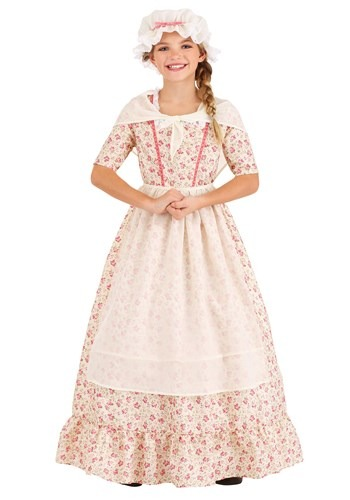 Click Here to buy Colonial Girl Kids Costume from HalloweenCostumes, CDN Funds & Shipping