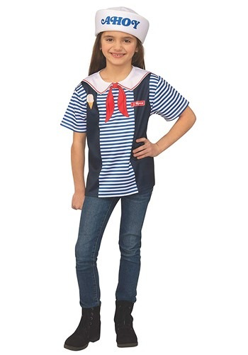 Click Here to buy Robins Scoops Ahoy Uniform Kids Costume Stranger Things from HalloweenCostumes, CDN Funds & Shipping