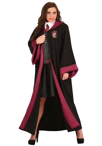 Click Here to buy Deluxe Harry Potter Plus Size Hermione Costume from HalloweenCostumes, CDN Funds & Shipping