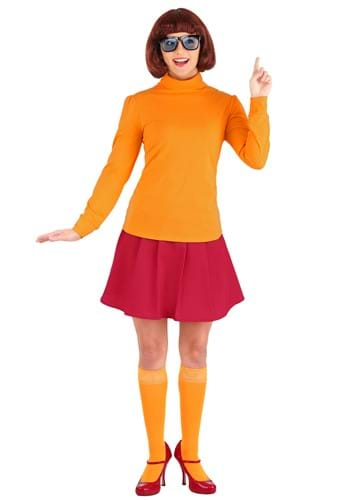 Click Here to buy Womens Classic Scooby Doo Velma Costume from HalloweenCostumes, CDN Funds & Shipping