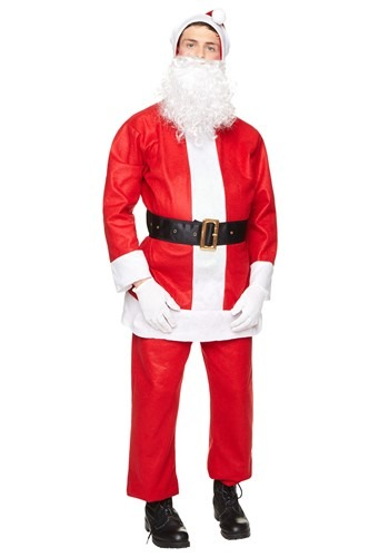 Click Here to buy Basic Santa Suit Mens Costume from HalloweenCostumes, CDN Funds & Shipping