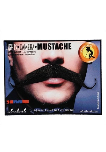 Click Here to buy Handlebar Mustache Self-Adhesive from HalloweenCostumes, CDN Funds & Shipping