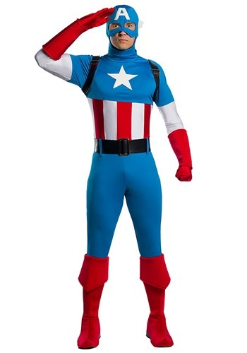 Click Here to buy Marvel Adult Captain America Premium Costume from HalloweenCostumes, CDN Funds & Shipping