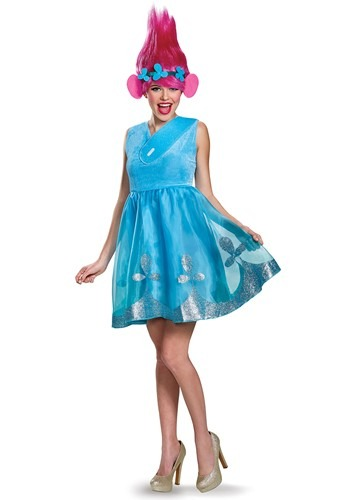 Click Here to buy Trolls Poppy Deluxe Womens Costume from HalloweenCostumes, CDN Funds & Shipping