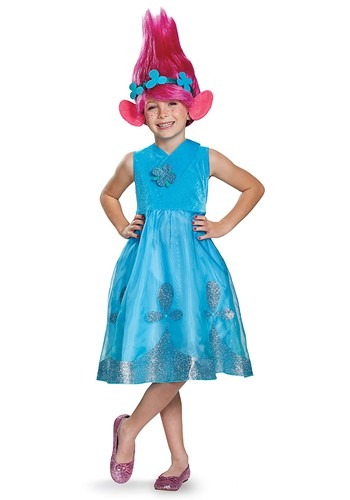 Click Here to buy Trolls Poppy Deluxe Girls Costume from HalloweenCostumes, CDN Funds & Shipping