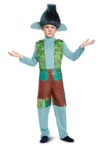 Click Here to buy Trolls Branch Deluxe Kids Costume from HalloweenCostumes, CDN Funds & Shipping