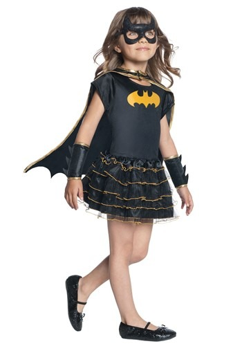 Girls Toddler Batgirl Dressup Caped Costume Dress